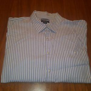 Claiborne 80's 2-PLY Slim Fit Long Sleeve Shirt